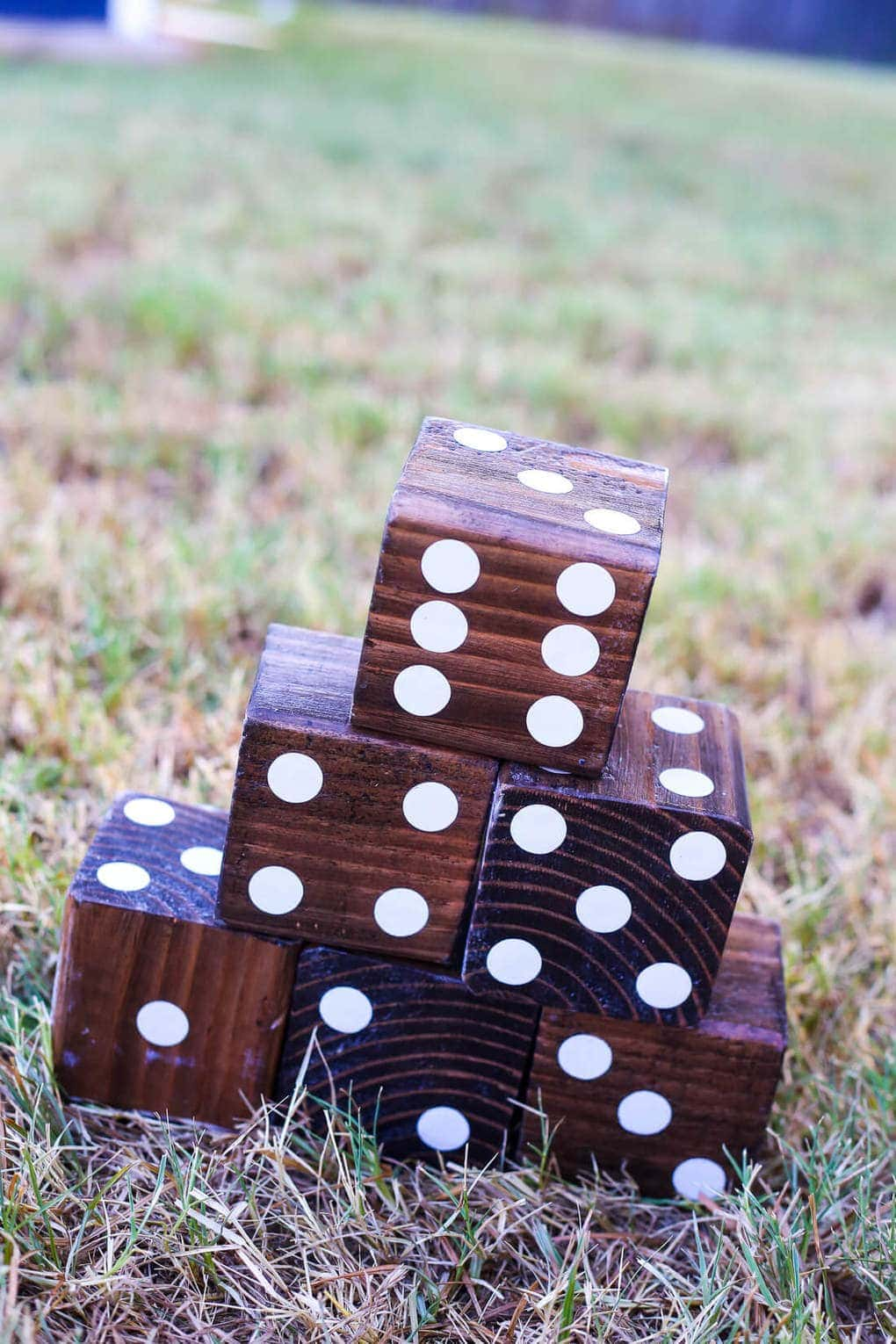 Stacked DIY yard dice
