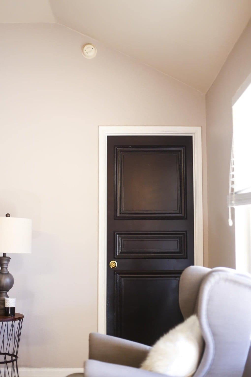 DIY Paneled Door - how to take a plain hollow core door and turn it into a paneled, beautiful, high-end door!