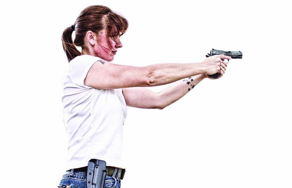A woman will be happier carrying a gutn when she controls the process of selecting it and learning how to shoot it.