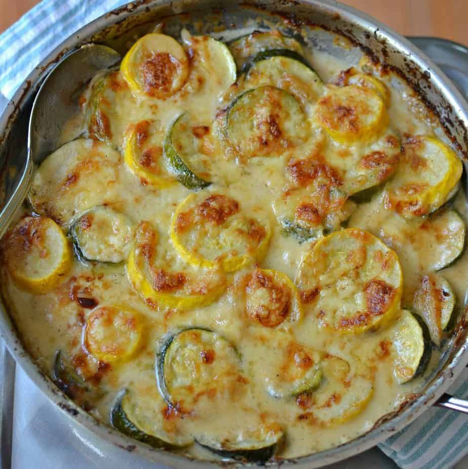Zucchini Gratin with Yellow Squash