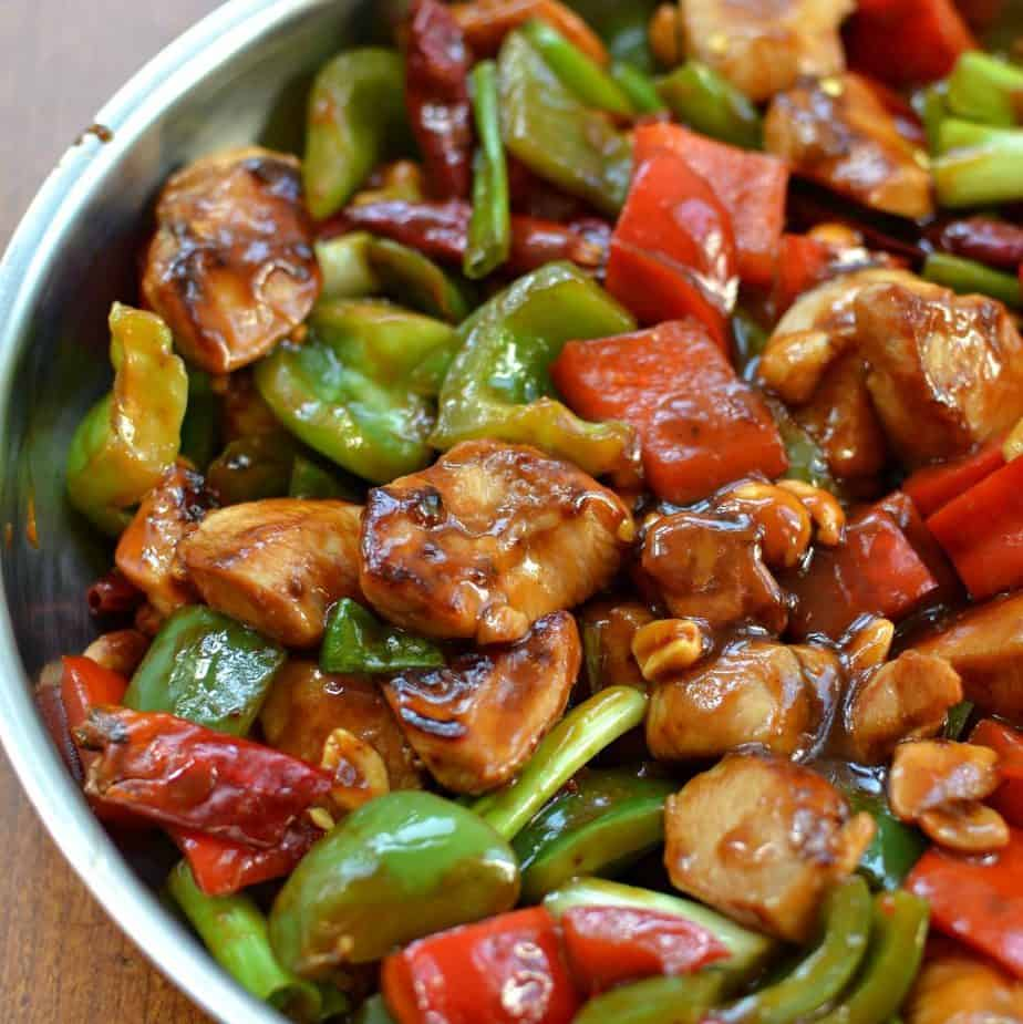 One Skillet Kung Pao Chicken