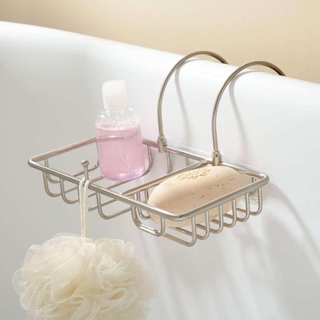 Soap Basket with Sponge Holder - Chrome