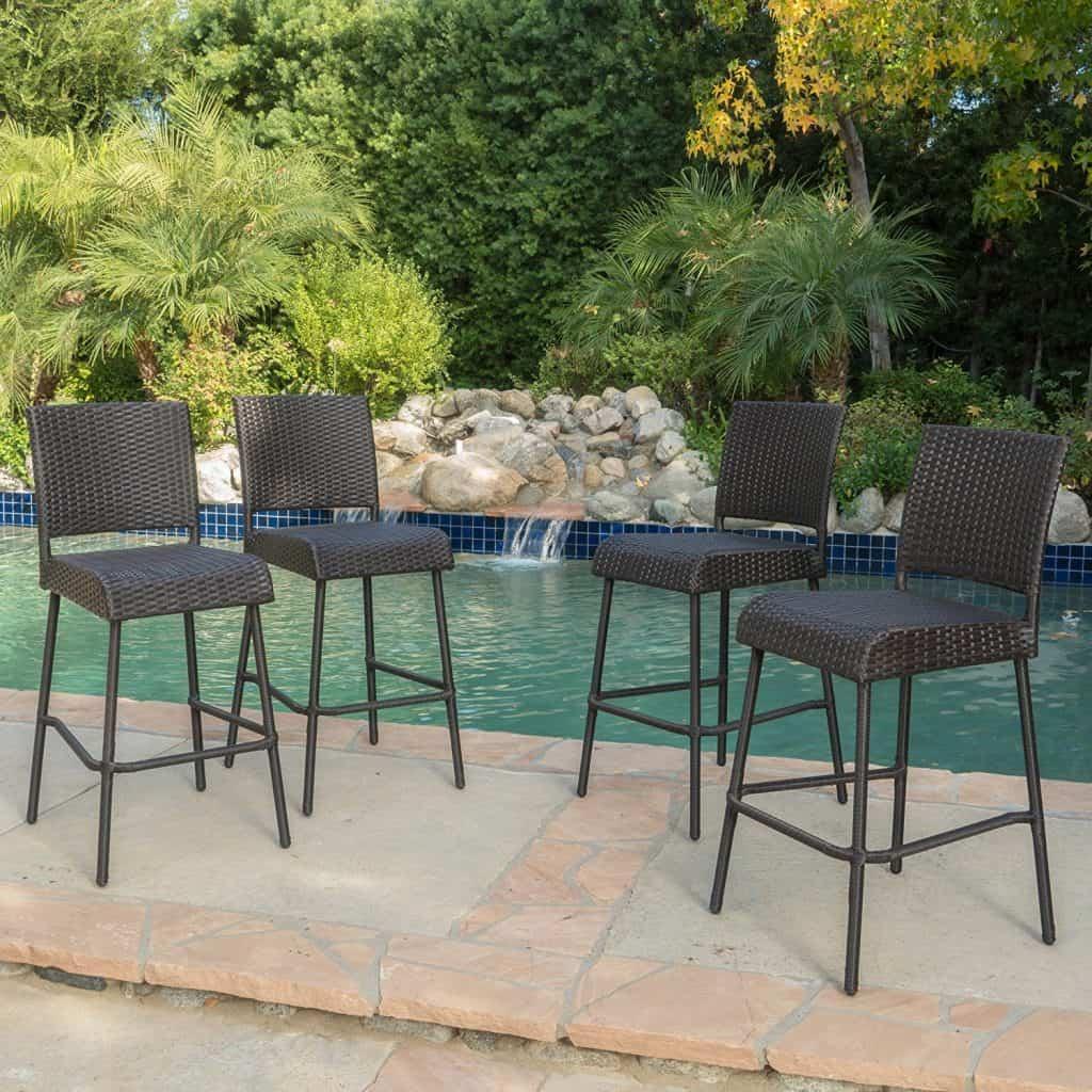 Sandy Point Wicker Outdoor Barstool