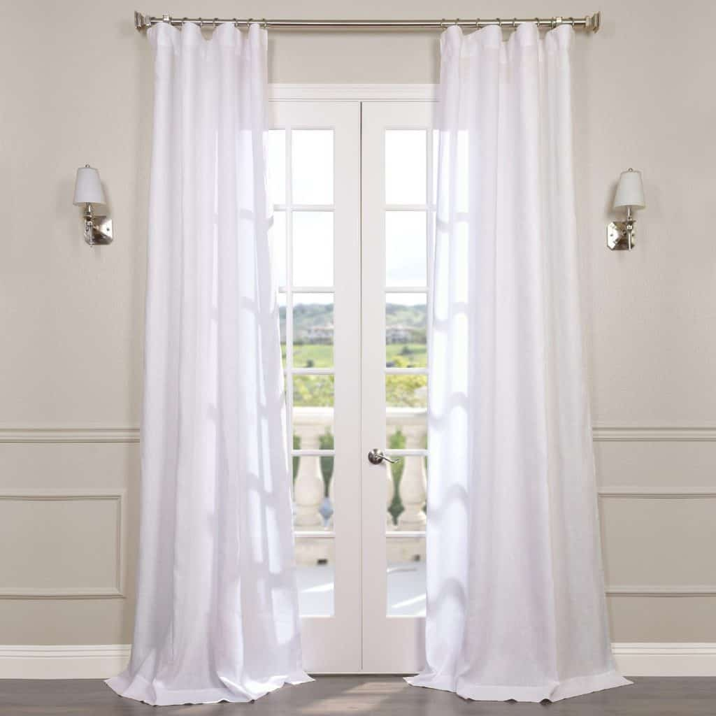 Signature French Linen Sheer Curtain