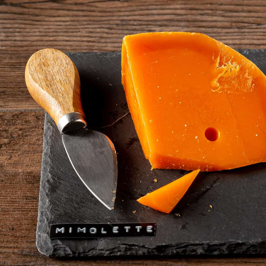 how to cut mimolette cheese