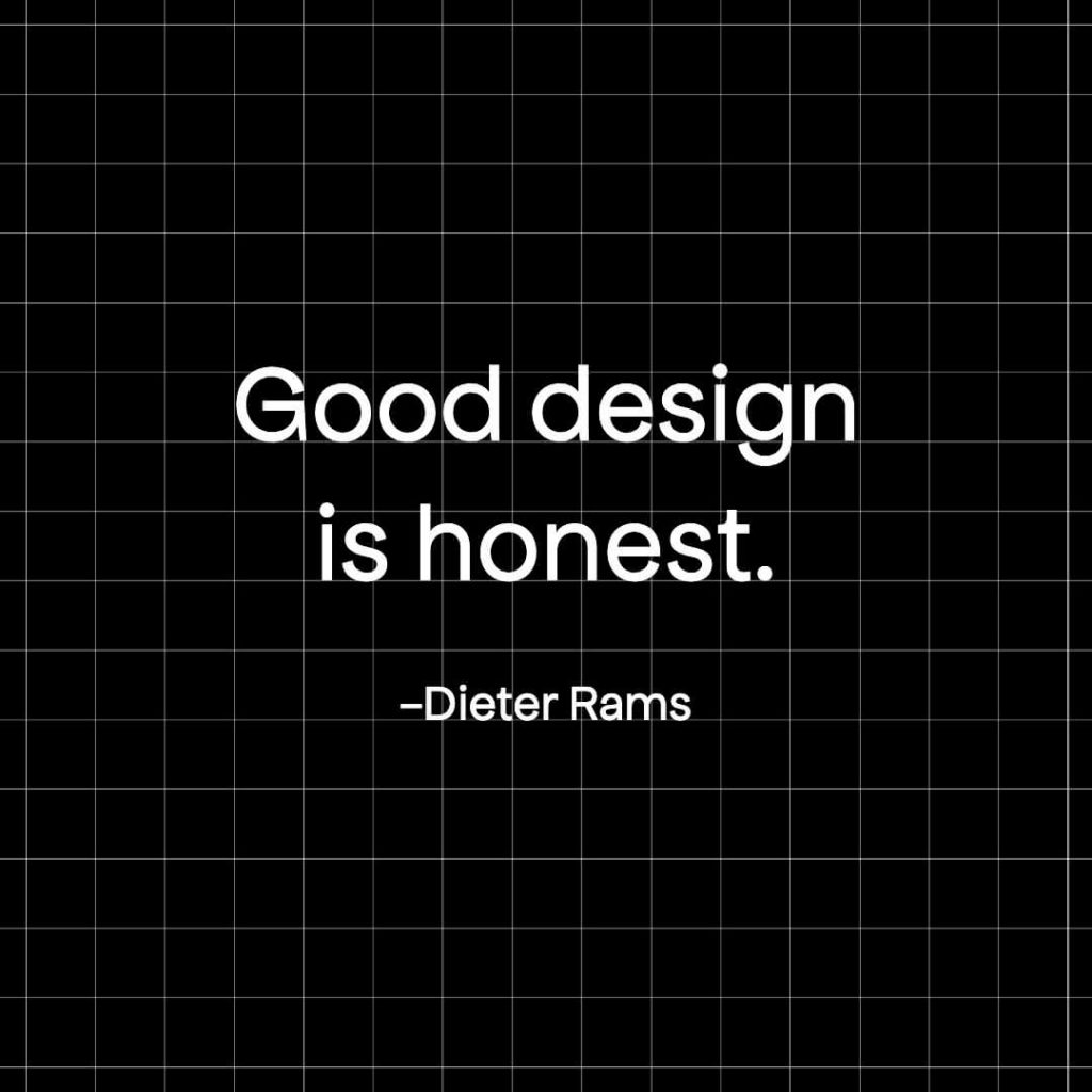 Dieter Rams famous design quote