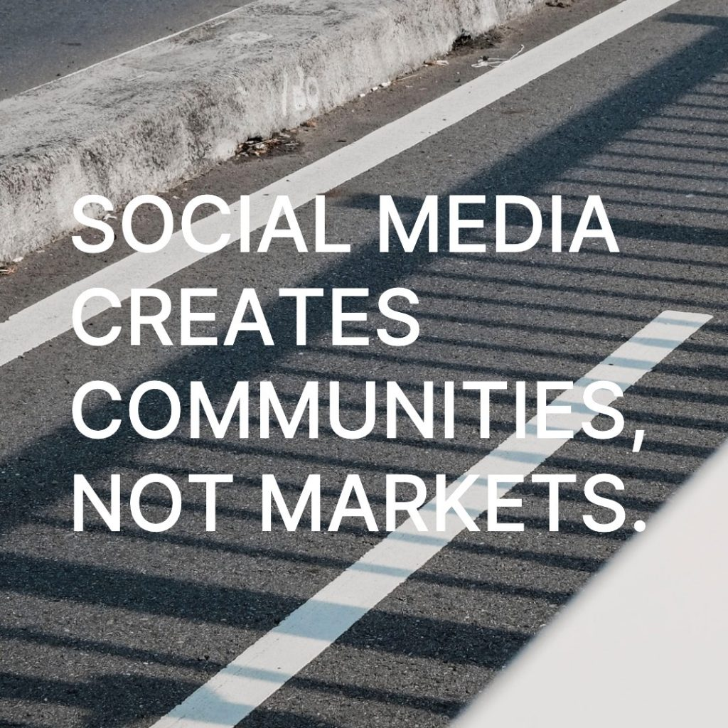 social media community marketing quote