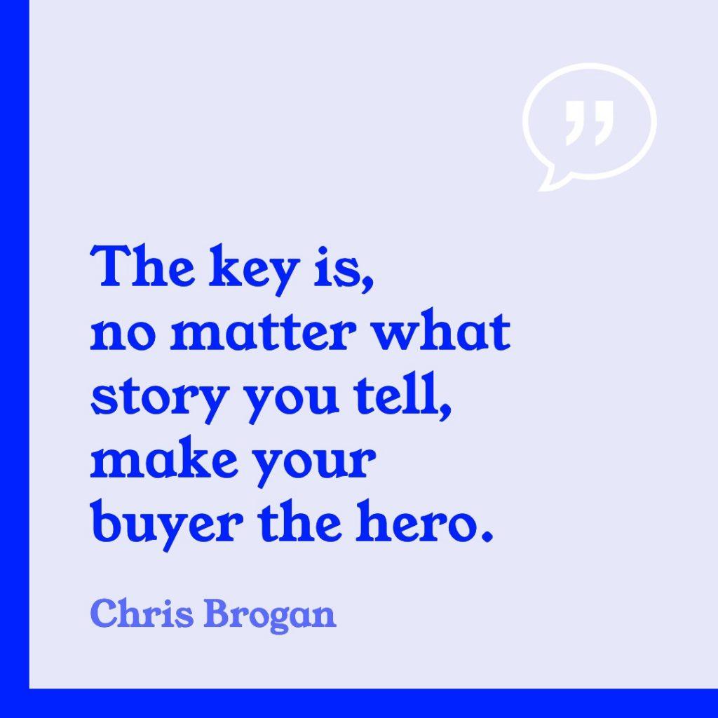 storytelling marketing quotation