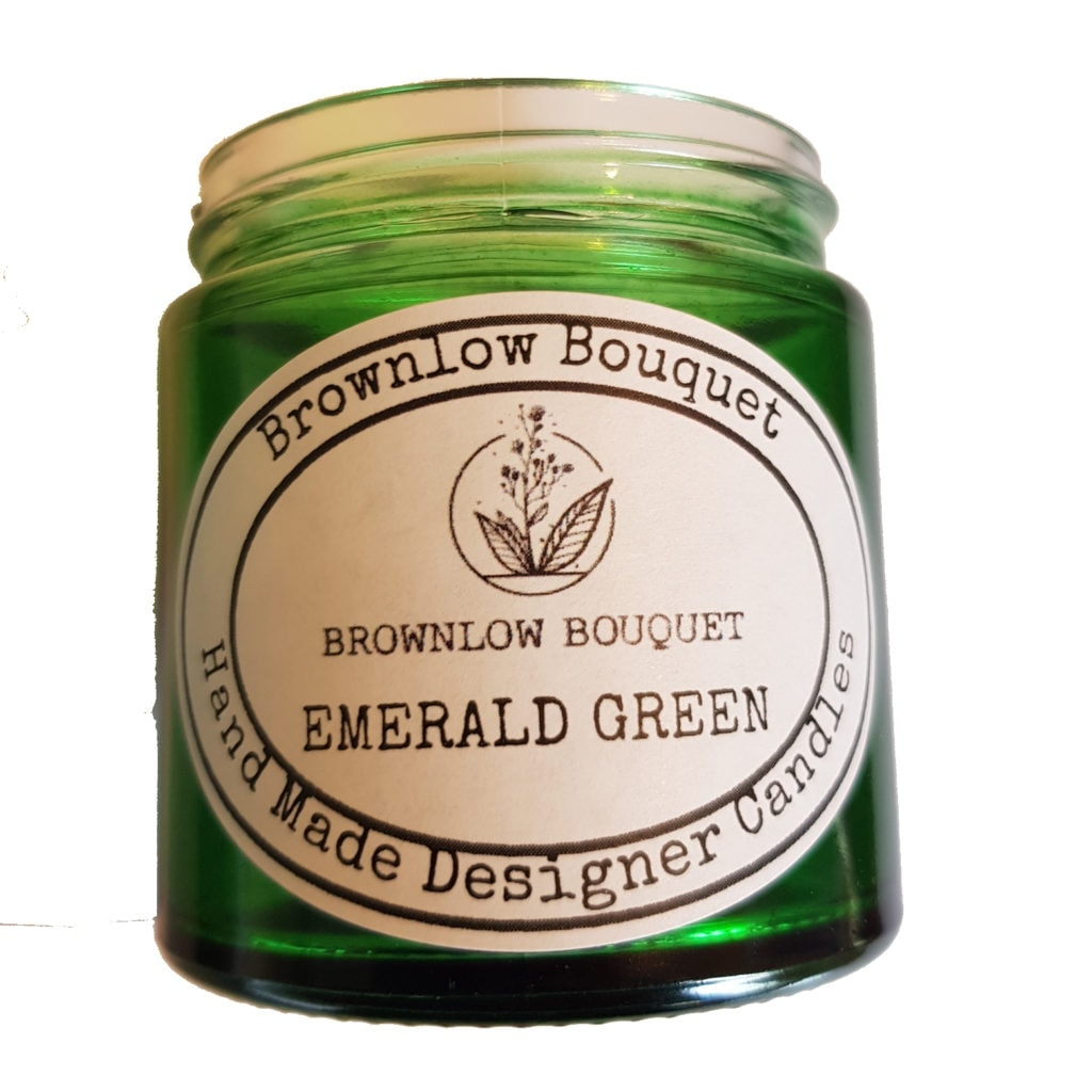 Custom Colour Translucent Gloss Emerald Green Jar with Label