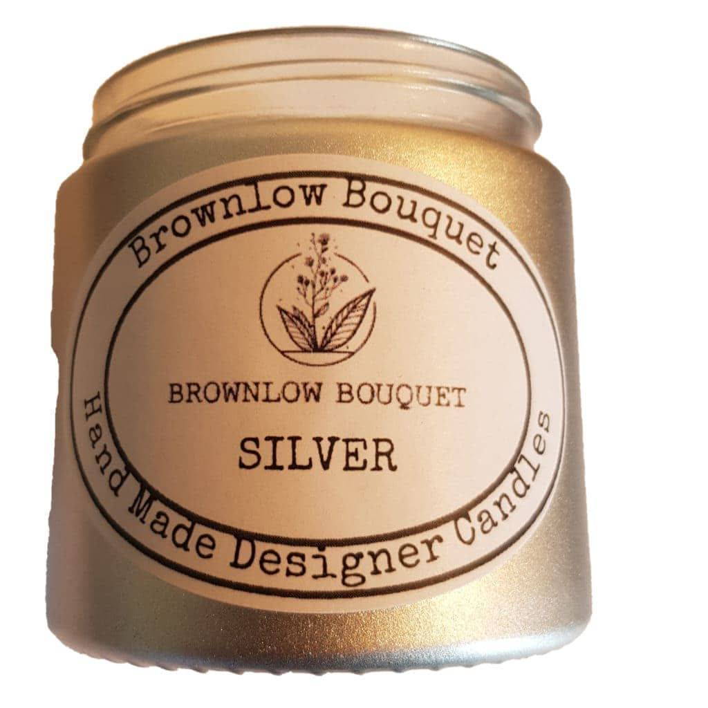 Custom Colour Gloss Opaque Silver Jar with Label