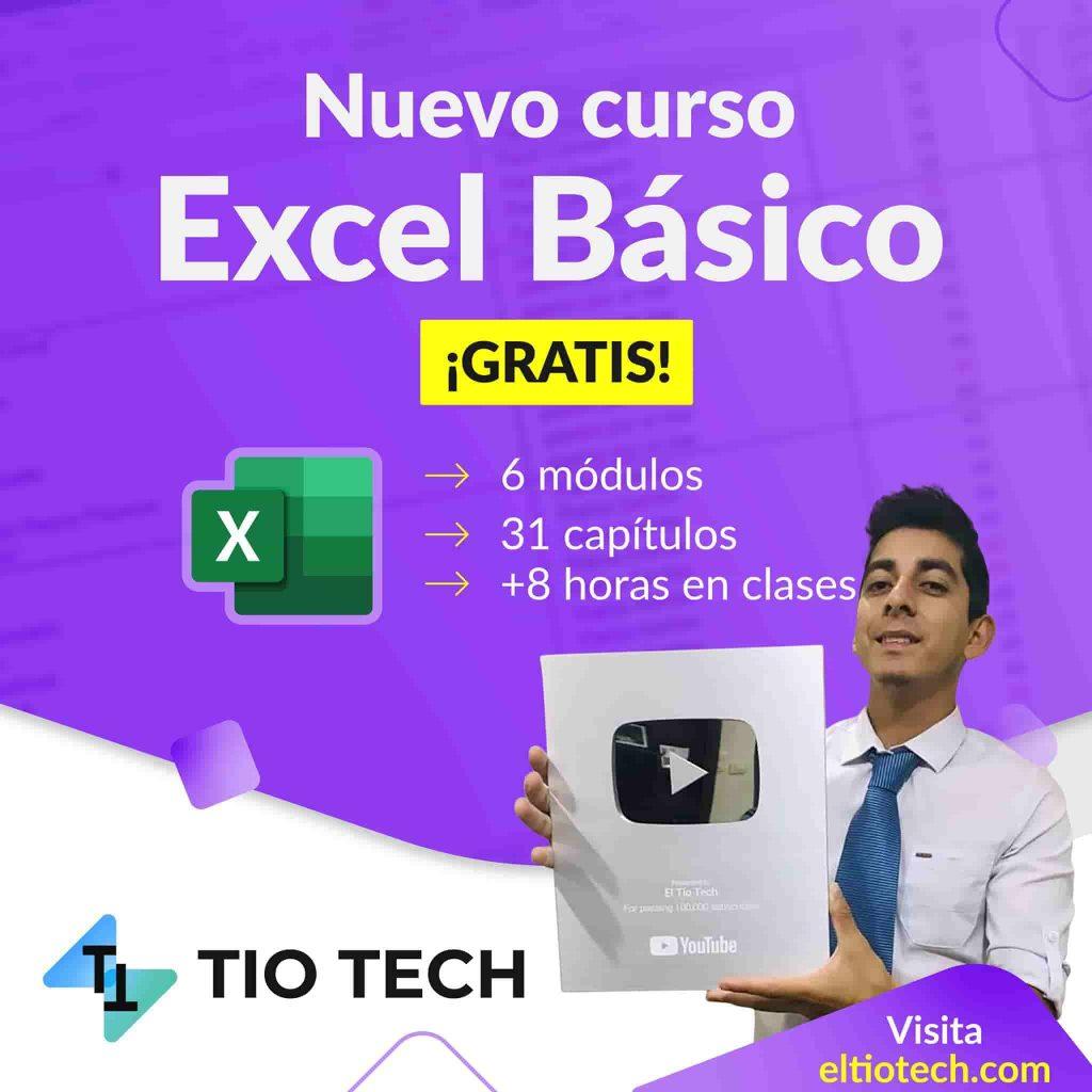 curso de excel básico - el tío tech