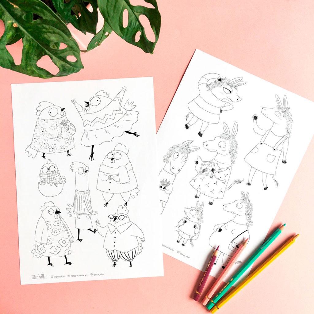 Dibujos Para Imprimir Y Colorear Mar Villar