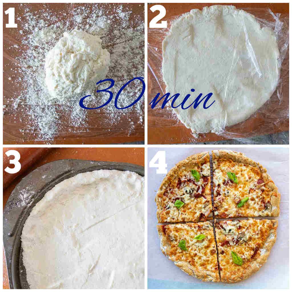 New York style pizza crust, gluten free