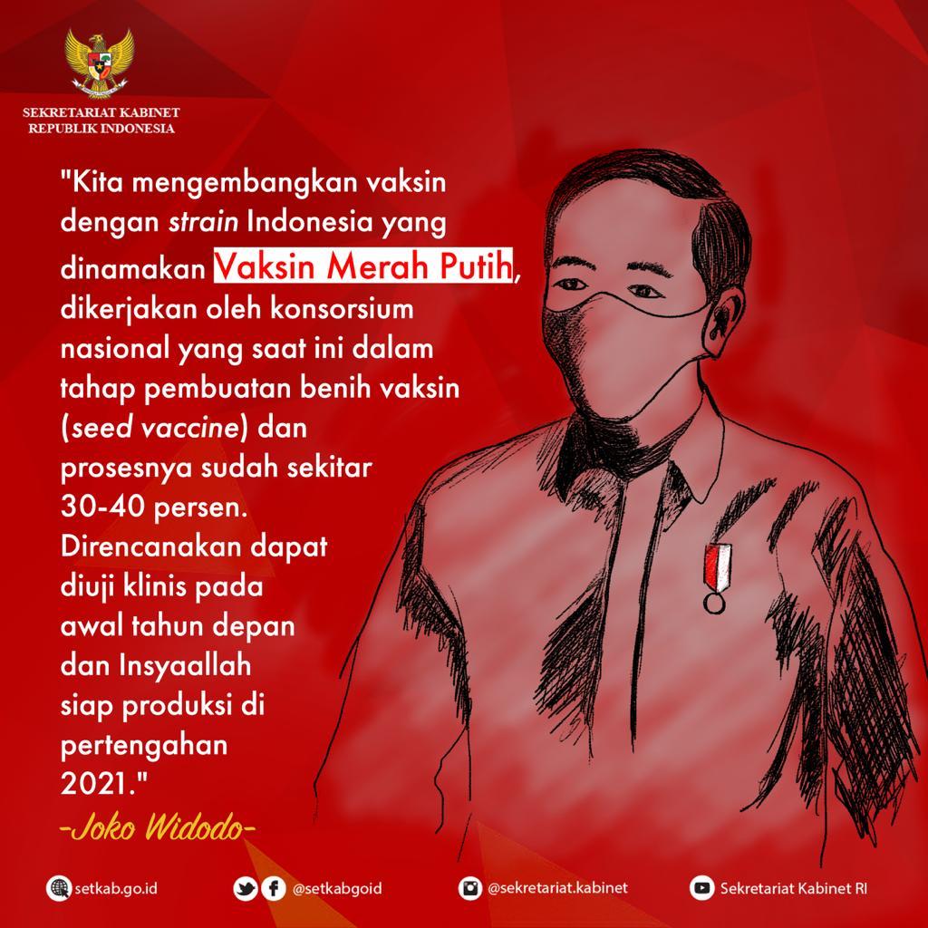 Pesan Presiden Joko Widodo tentang Vaksin Merah Putih,