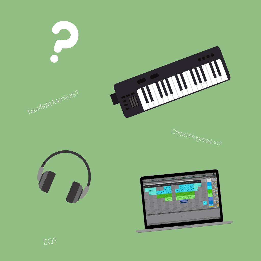 Keyboards, Headphones, Question Mark