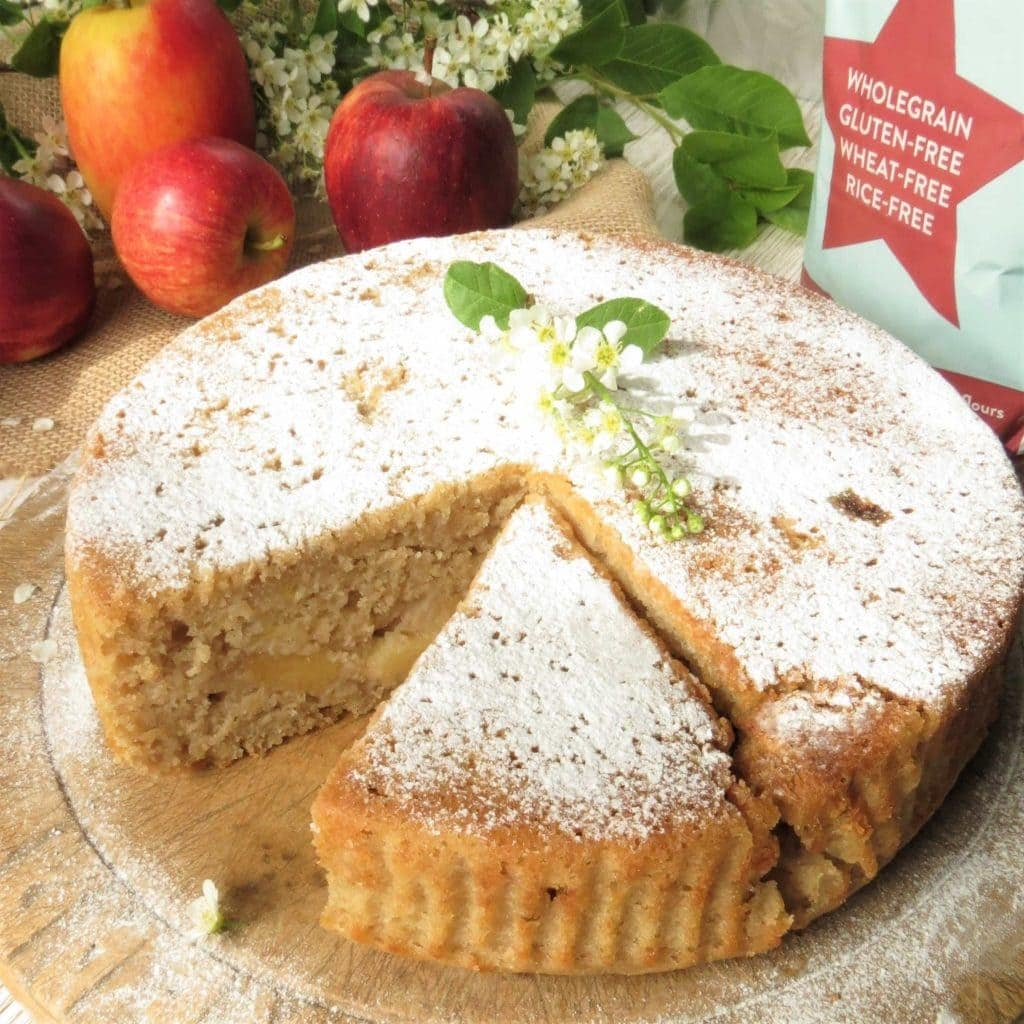French Apple Cake vegan and gluten free