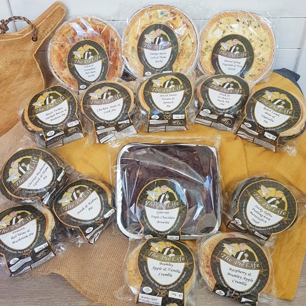 Pie Life Delivery - selection of Gluten Free Pies and other products