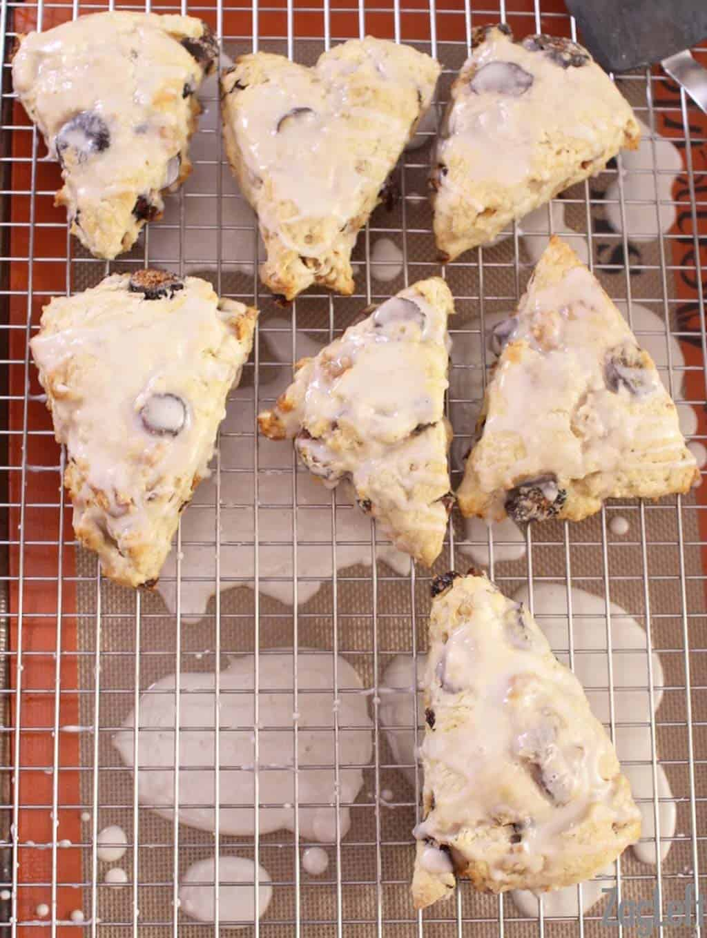 These buttery Fig and Walnut Scones topped with a sweet Maple Glaze are easy to make and perfect for breakfast or as an afternoon treat...| www.zagleft.com