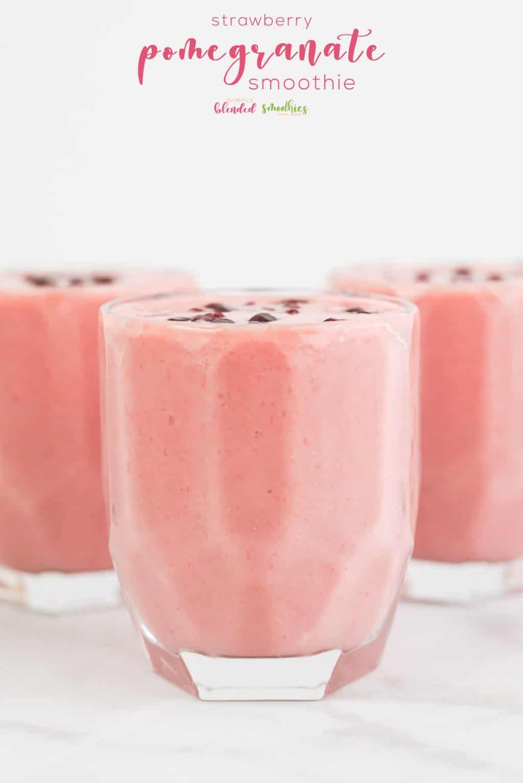 Homemade Strawberry Pomegranate Smoothie Recipe