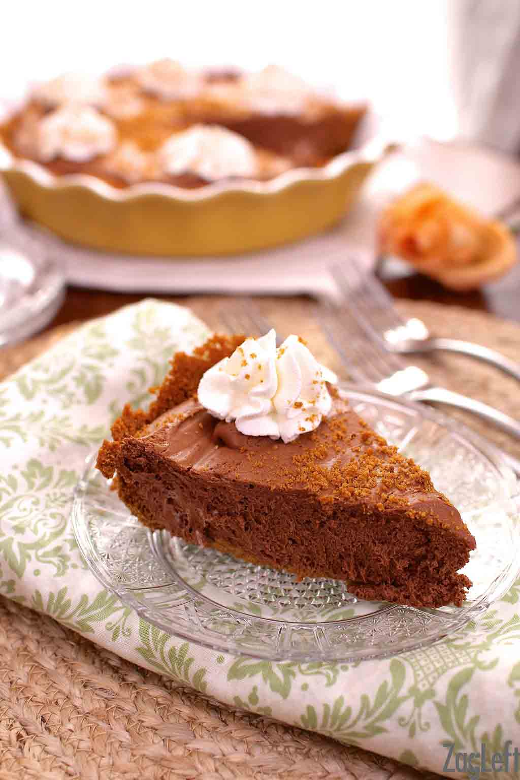 Chocolate Mousse Pie with Biscoff Crust | ZagLeft