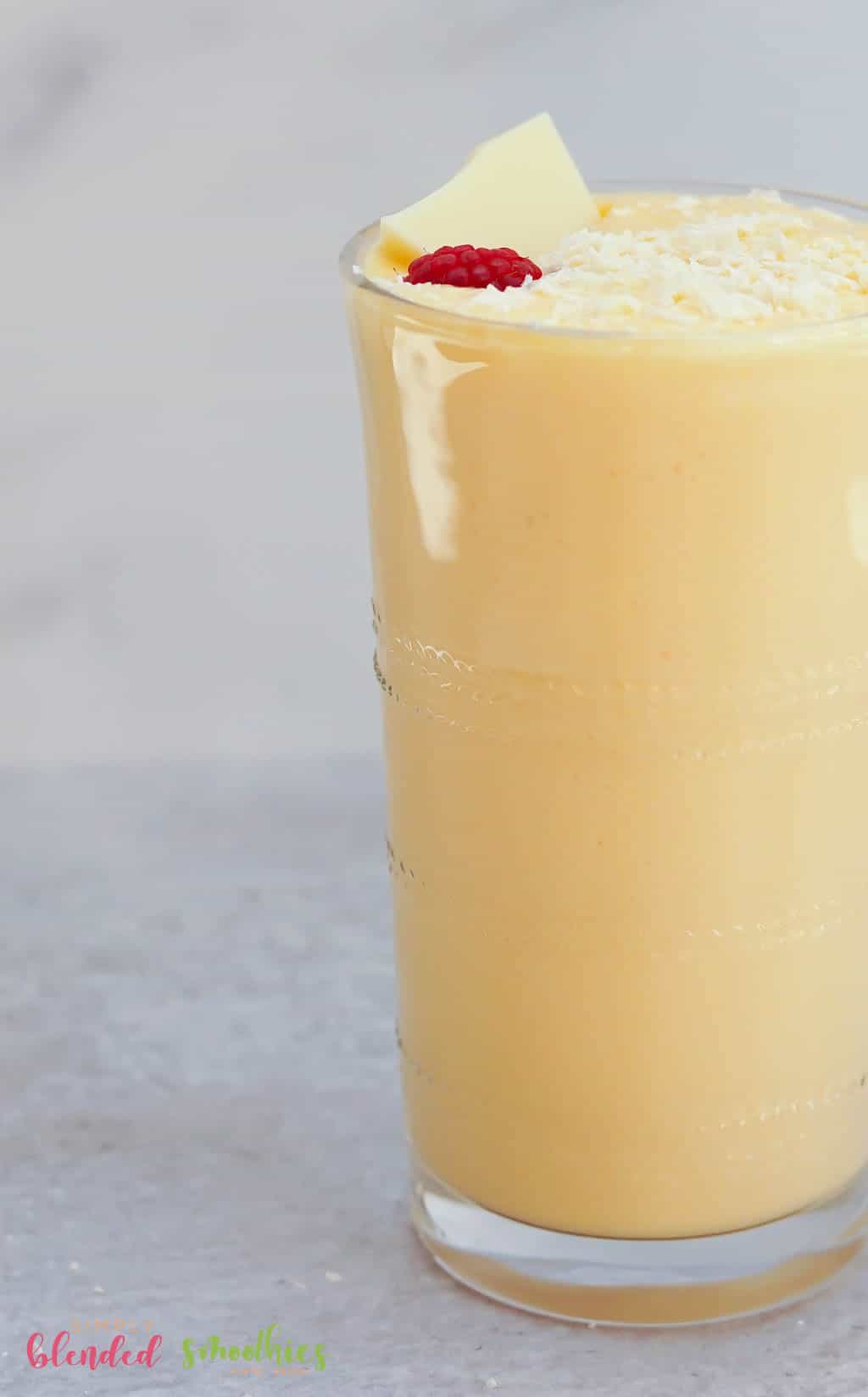 delicious peach milkshake