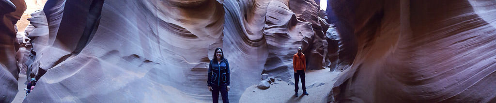 Brooke and Buddy in Lower Antelope Canyon