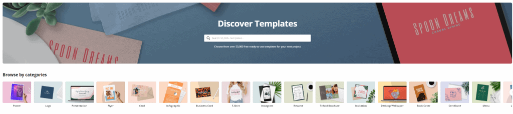 Canva Pro gives you access to templates