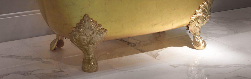 Gold feet