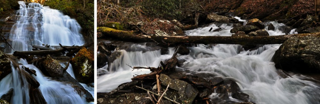Anna Ruby Falls is a short hike right outside of Helen