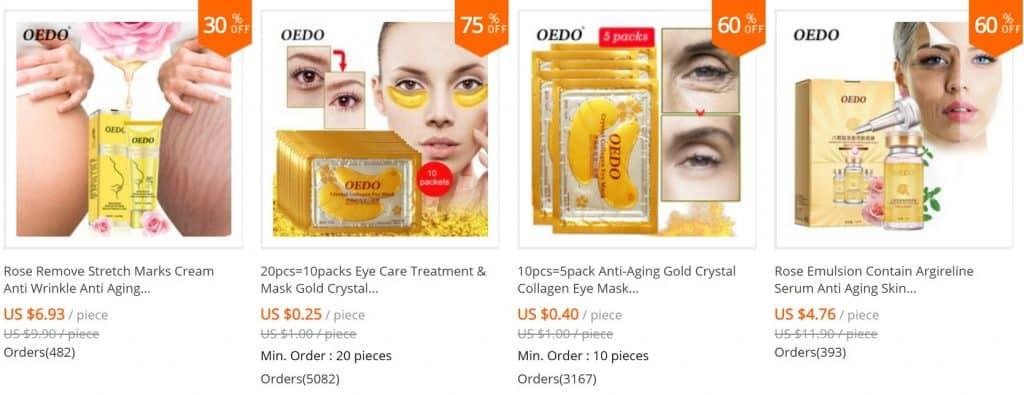 AliExpress Beauty Product Skincare Trusted Cheap Wholesale Price Safe Serum Handcream China Cosmetics Oedo1
