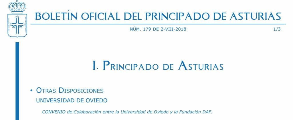 Convenio colaboración DAF y Universidad de Oviedo