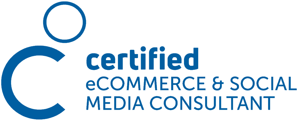 Logo certified eCommece & Social Media Consultant