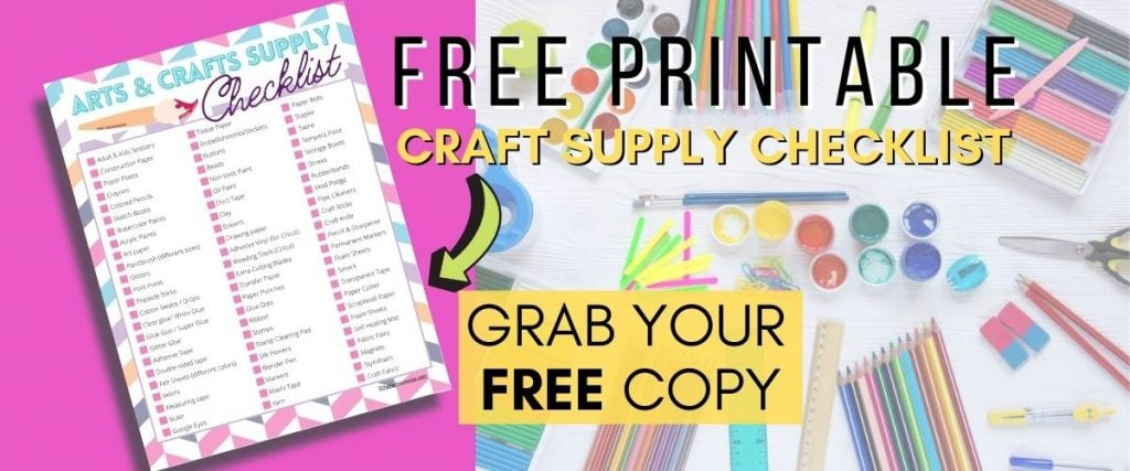 Free arts and crafts supply checklist . Download here
