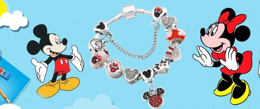 Pandora Charm Replica AliExpress InBaoPon1 Disney Bracelets Mickey Minnie