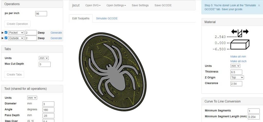 jscut spider