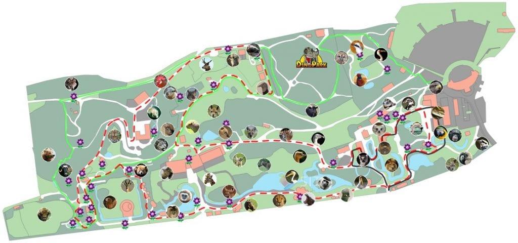 Mapa starých tras v ZOO Plzeň