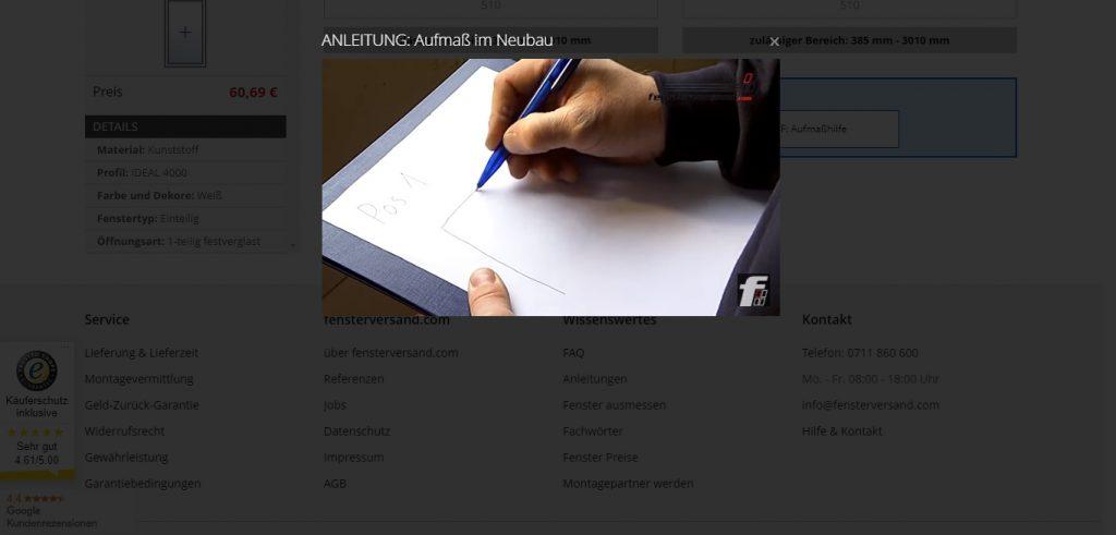 Fensterversand ObjectCode GmbH fensterkonfigurator