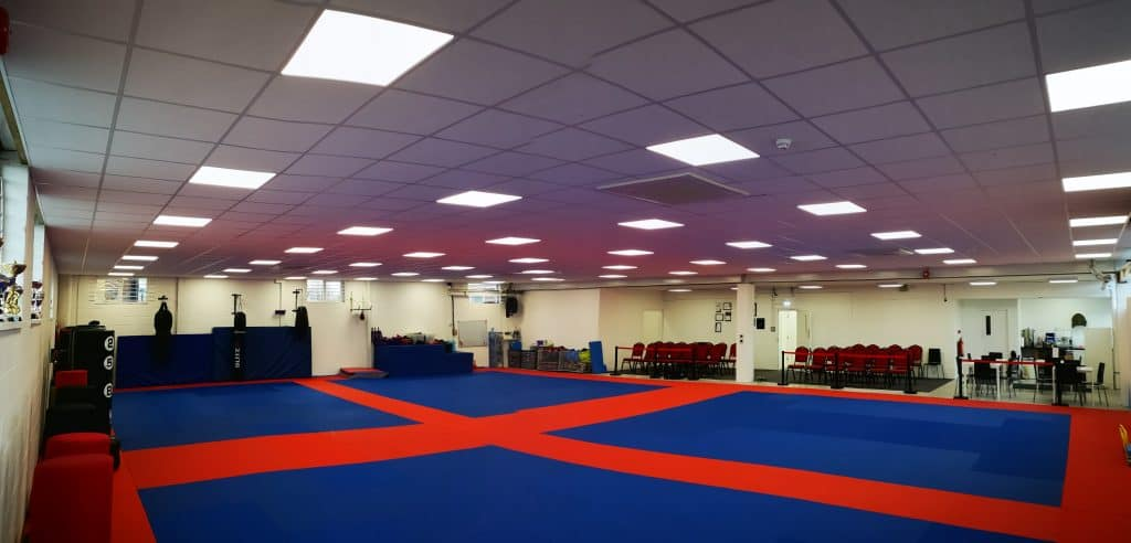 We use safety or crash mats within our classes to safely practice rolling and falling