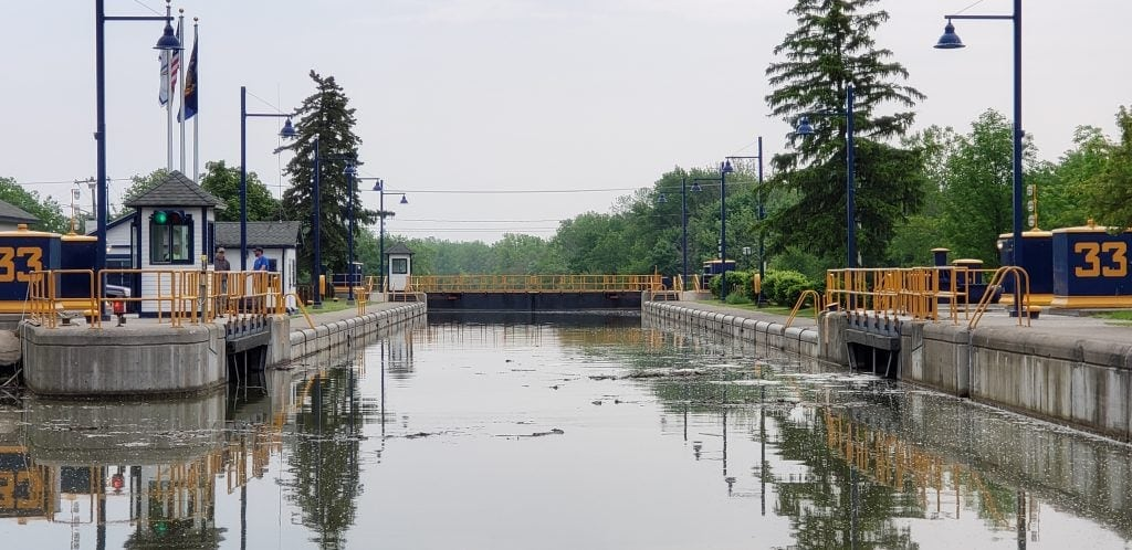 Entering Erie Canal Lock #33 from west