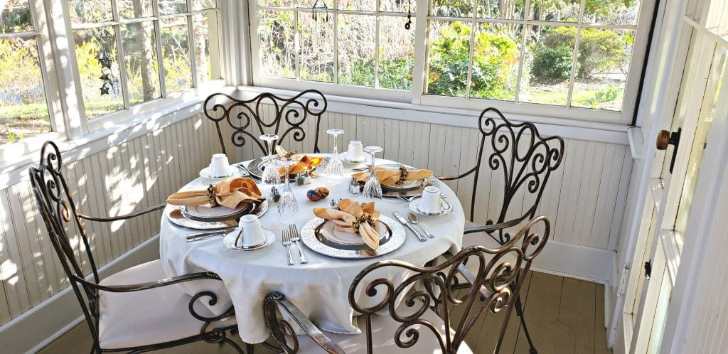 Breakfast room is garden room of the original home at Cumberland Falls Bed and Breakfast
