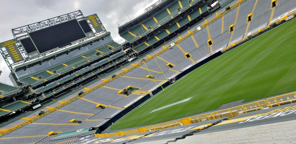 Inside Lambeau Field Green Bay Wisconsin is top of Green Bay WI Attractions