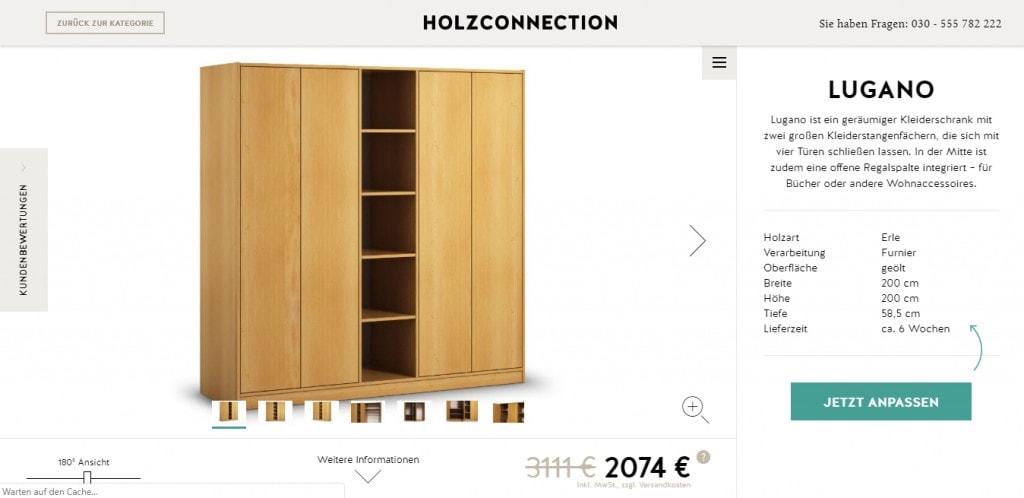 holzconnection screenshot maßschrank wunschmöbel individuell möbelplaner