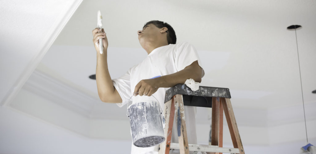 painter painting ceiling