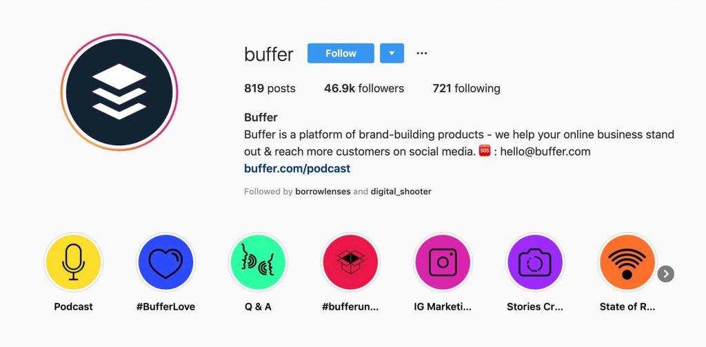 buffer instagram highlight cover icons