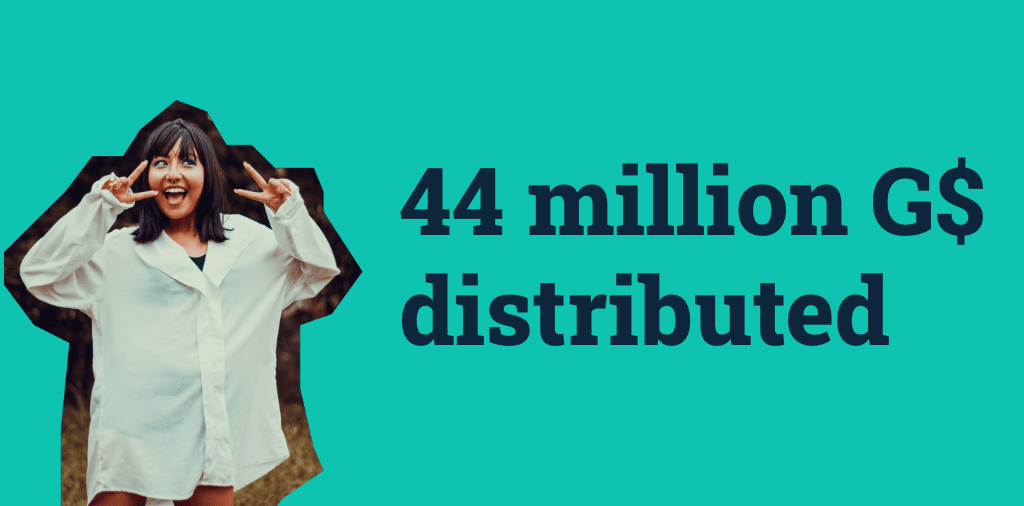 44 million G$ digital basic income distributed