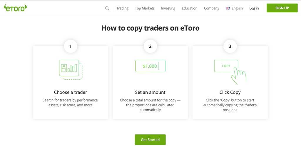 How to copy Traders on eToro