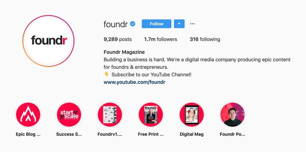 foundr instagram story highlight cover