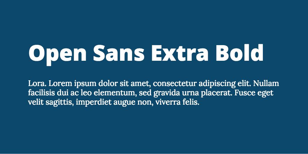 Open Sans & Lora font combination
