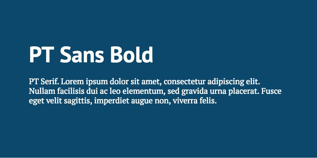 PT Sans & PT Serif font combination