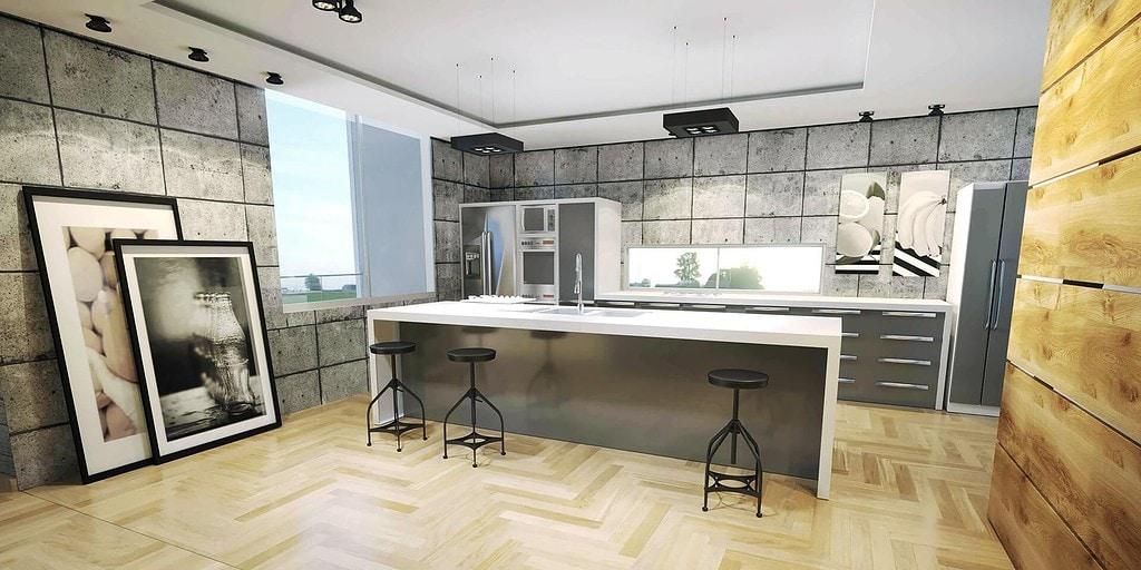 cozinha em concreto - arquitetura de interiores- projeto casa moderna